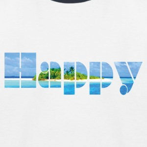 Happy - Kinder Baseball T-Shirt