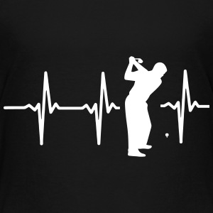 My heart beats for golf! Shirts - Kids' Premium T-Shirt