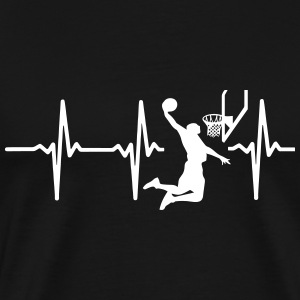 My heart beats for BASKETBALL! T-Shirts - Men's Premium T-Shirt