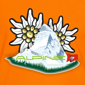 Alpine - Orange County - Männer Kontrast-T-Shirt