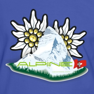 Alpine - Blue-by-you - Männer Kontrast-T-Shirt