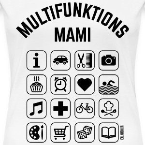 Multifunktions Mami (16 Icons) T-Shirts - Frauen Premium T-Shirt