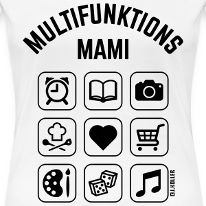 Multifunktions Mami (9 Icons) T-Shirts - Frauen Premium T-Shirt