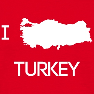 I LOVE TURKEY - Männer T-Shirt