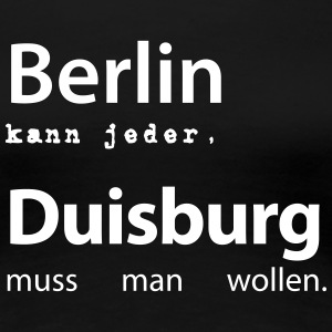Berlin&Duisburg_v1 T-Shirts - Frauen Premium T-Shirt