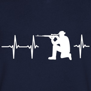 MY HEART BEATS FOR THE MILITARY T-Shirts - Men's V-Neck T-Shirt