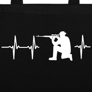 MY HEART BEATS FOR THE MILITARY Bags & Backpacks - Tote Bag