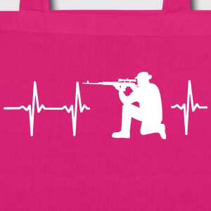MY HEART BEATS FOR THE MILITARY Bags & Backpacks - EarthPositive Tote Bag