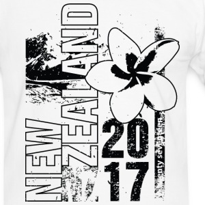 New Zealand 2017 T-shirts - Kontrast-T-shirt herr