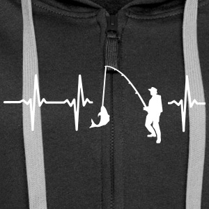 MY HEART BEATS FÜRS FISHING! Hoodies & Sweatshirts - Women's Premium Hooded Jacket