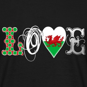 Love Wales White T-Shirts - Men's T-Shirt