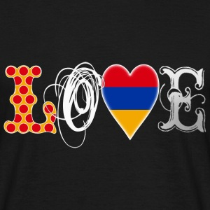 Love Armenia White T-Shirts - Men's T-Shirt