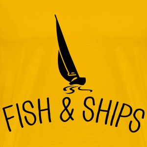 Fish and Ships Segelboot T-Shirts - Männer Premium T-Shirt