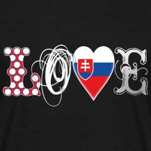 Love Slovakia White T-Shirts - Men's T-Shirt