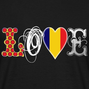 Love Romania White T-Shirts - Men's T-Shirt