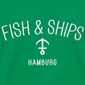 Fish and Ships Hamburg T-Shirts - Männer Premium T-Shirt