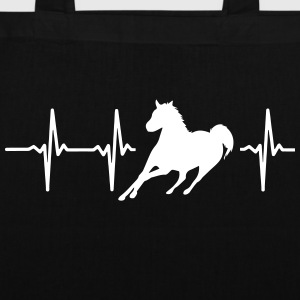 My heart beats for horses! Bags & Backpacks - Tote Bag