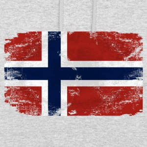 Norway Flag - Vintage Look Pullover & Hoodies - Unisex Hoodie