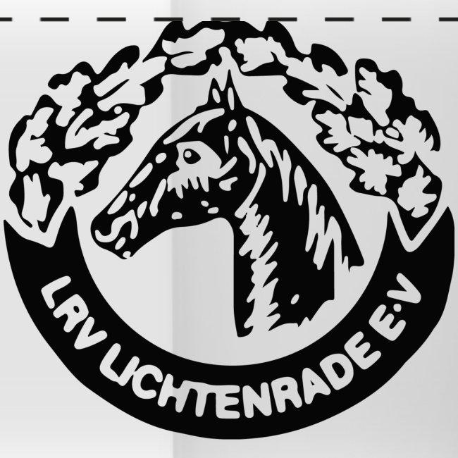 Zweifarbige Tasse mit LRV-Logo