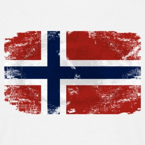 Norway Flag - Vintage Look T-Shirts - Männer T-Shirt
