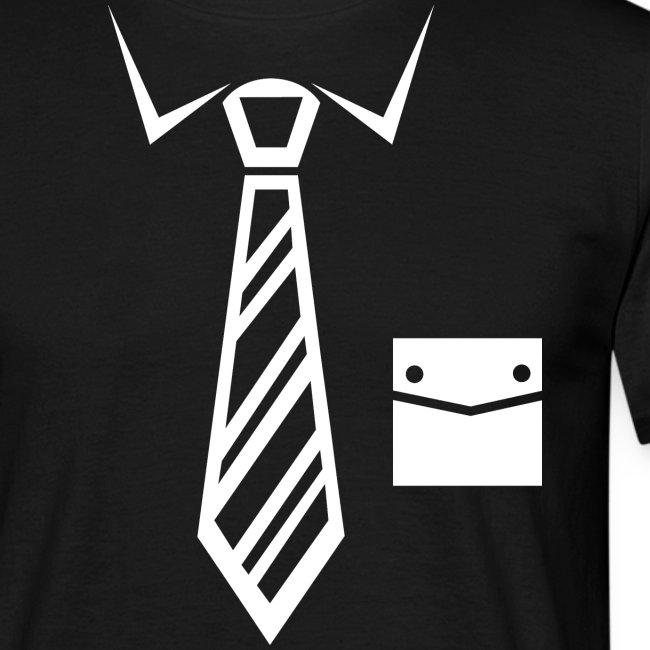 Krawatte mit der Tasche