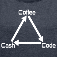 "Nerd T-Shirts mit ""Coffee Code Cash"""
