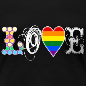 Gay Love White T-Shirts - Women's Premium T-Shirt