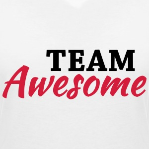 Team Awesome T-shirts - Vrouwen T-shirt met V-hals