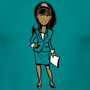 office success career woman T-Shirts - Men's T-Shirt