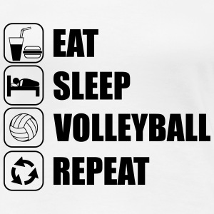 Eat Sleep Volleyball Repe Camisetas - Camiseta premium mujer