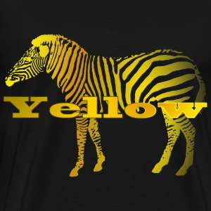 Yellow Zebra - Men's Premium T-Shirt