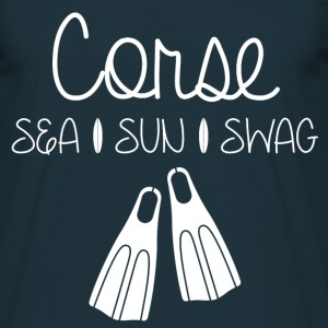 Tee Shirt Corse Sea Sun Swag - T-shirt Homme