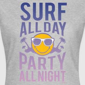 SmileyWorld 'Surf all day' Femme Tee Shirt - T-shirt Femme