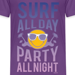 Smiley World Surf all day Kinder T-Shirt - Kinder Premium T-Shirt