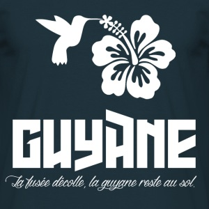 Tee Shirt France Guyane 973 Proverbe fusée - T-shirt Homme