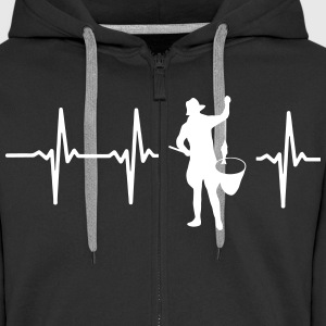 MY HEART BEATS FÜRS FISHING Hoodies & Sweatshirts - Men's Premium Hooded Jacket