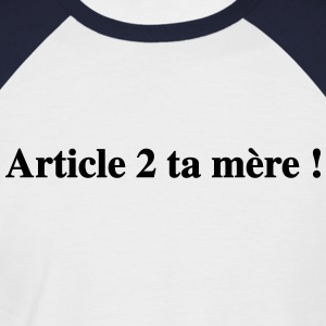 Article 2 - T-shirt baseball manches courtes Homme