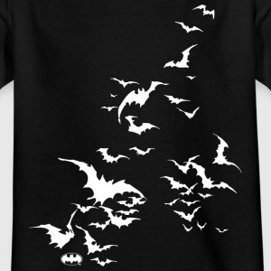 Batman 'Fledermaus Schwarm' Teenager T-Shirt - Teenager T-Shirt