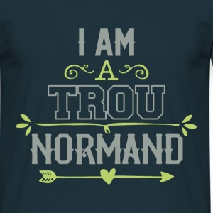 Tee Shirt France Normandie Humour trou Normand - T-shirt Homme