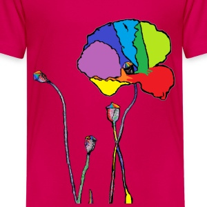 rainbow poppy T-Shirts - Teenager Premium T-Shirt