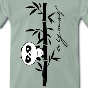 be yourself (panda) Camisetas - Camiseta premium hombre