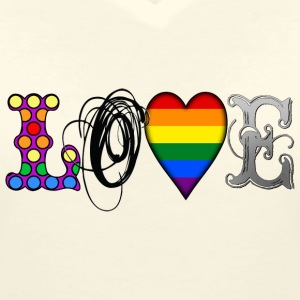 Gay Love T-Shirts - Women's V-Neck T-Shirt