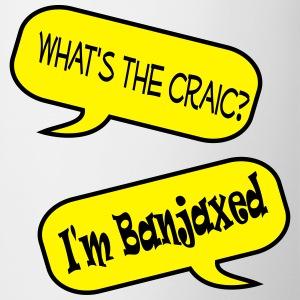 whats the craic banjaxed speech bubble Mugs & Drinkware - Mug