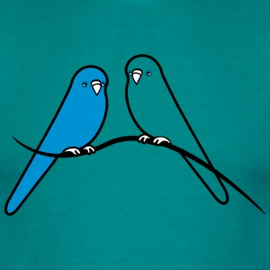 perruches oiseau doux amour Tee shirts - T-shirt Homme