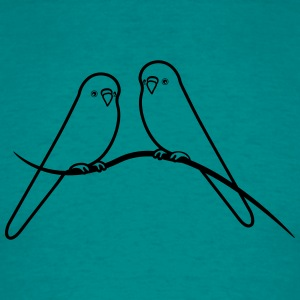 budgerigars bird sweet loving T-Shirts - Men's T-Shirt