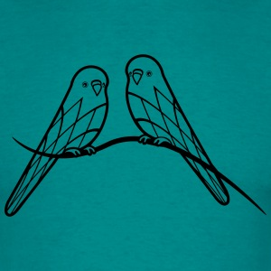 budgerigars bird pattern T-Shirts - Men's T-Shirt