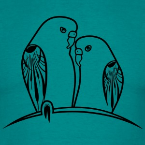 perruches oiseaux Tee shirts - T-shirt Homme