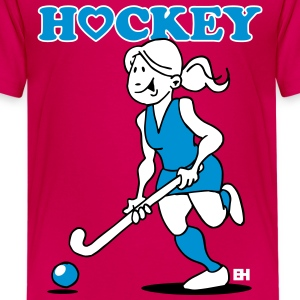 I love hockey girl Shirts - Teenage Premium T-Shirt