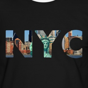 NYC (New York City) men's t-shirt black - Mannen contrastshirt