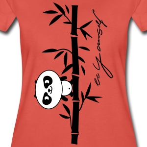 be yourself (panda) T-shirts - Frauen Premium T-Shirt
